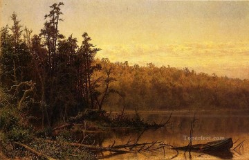 Landscapes Painting - Evening on the Severn scenery Hugh Bolton Jones Landscape