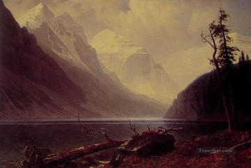 Lake Oil Painting - Lake Louise Albert Bierstadt Landscape