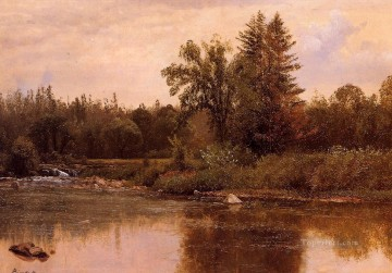 Lake Pond Waterfall Painting - Landscape New Hampshire Albert Bierstadt