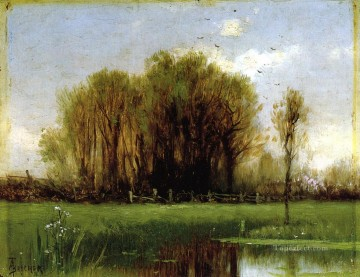 Lake Pond Waterfall Painting - Landscape with Water Alfred Thompson Bricher