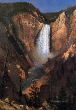 Landscapes Painting - Lower Yellowstone Falls Albert Bierstadt Landscape