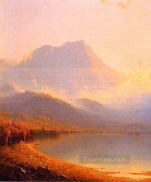 Lake Pond Waterfall Painting - Morning in the Adirondacks scenery Sanford Robinson Gifford Landscape