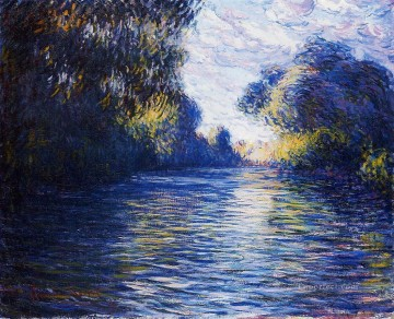 Lake Pond Waterfall Painting - Morning on the Seine 1897 Claude Monet Landscape