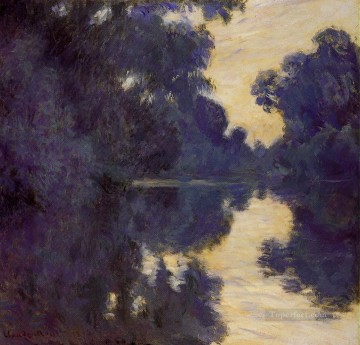 Lake Pond Waterfall Painting - Morning on the Seine Claude Monet Landscape