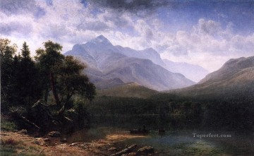 Lake Pond Waterfall Painting - Mount Washington Albert Bierstadt Landscape