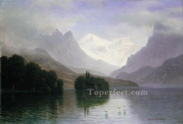 Mountain Scene Albert Bierstadt Landscape Oil Paintings