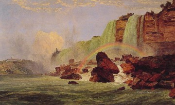 Lake Pond Waterfall Painting - Niagara Falls with View of Clifton House landscape Jasper Francis Cropsey