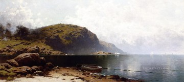 Lake Pond Waterfall Painting - Off Grand Manan modern beachside Alfred Thompson Bricher Landscape