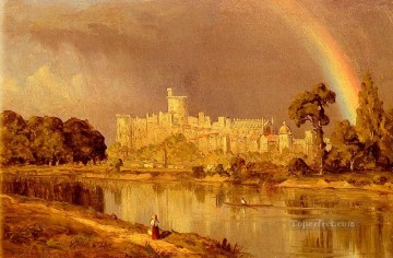 Lake Pond Waterfall Painting - Study Of Windsor Castle scenery Sanford Robinson Gifford Landscape
