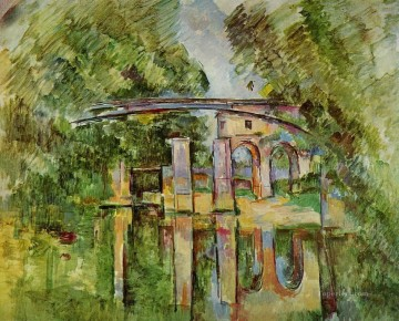 Lake Pond Waterfall Painting - The Aqueduct and Lock Paul Cezanne Landscape