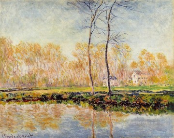 The Banks of the River Epte at Giverny Claude Monet Landscape Oil Paintings