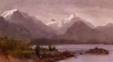 Landscapes Painting - The Grand Tetons Wyoming Albert Bierstadt Landscape