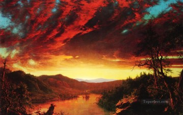 Twilight in the Wilderness scenery Hudson River Frederic Edwin Church Landscape Oil Paintings