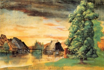 Willow Mill Albrecht Durer Landscape Oil Paintings