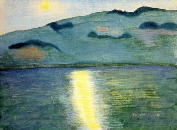 lake Marianne von Werefkin landscape Oil Paintings