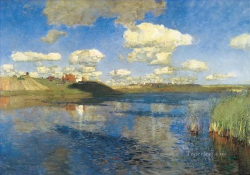 lake rus Isaac Levitan landscape Oil Paintings