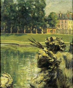 Lake Pond Waterfall Painting - Bassin de Neptune Versailles impressionism landscape James Carroll Beckwith