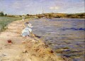 Beach Scene Morning at Canoe Place impressionism William Merritt Chase Landscape