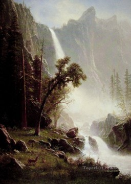 Bridal Veil Falls Albert Bierstadt Landscape Oil Paintings