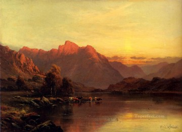 Buttermere The Lake District landscape Alfred de Breanski Snr Oil Paintings