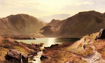 Lake Pond Waterfall Painting - Easdale Tarn Westmoreland landscape Sidney Richard Percy