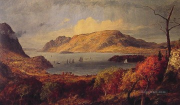 Lake Pond Waterfall Painting - Gates of the Hudson landscape Jasper Francis Cropsey