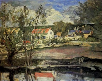 Lake Pond Waterfall Painting - In the Oise Valley Paul Cezanne Landscape