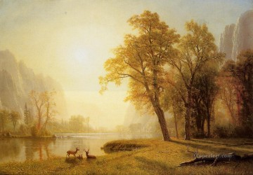 Albert Works - Kings River Canyon California Albert Bierstadt Landscape