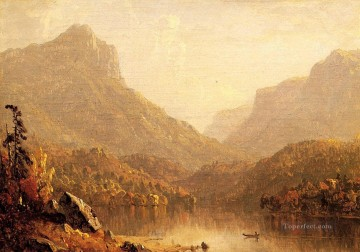 Lake Pond Waterfall Painting - Lake Scene 1861 scenery Sanford Robinson Gifford Landscape