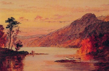 Lake Pond Waterfall Painting - Lake Scene Catskill Mountains landscape Jasper Francis Cropsey