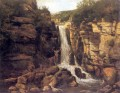 Landscape with Stag waterfall landscape Gustave Courbet
