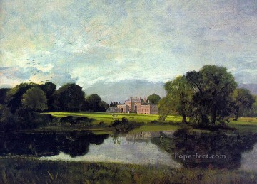 Lake Pond Waterfall Painting - Malvern Hall Romantic landscape John Constable