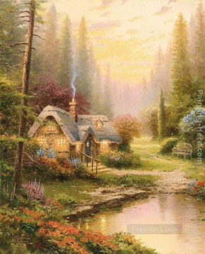 Meadowood Cottage Thomas Kinkade Landscape Oil Paintings