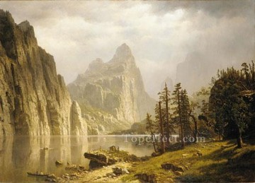 Merced River Yosemite valley Albert Bierstadt Landscape Oil Paintings