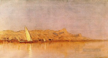 On the Nile Gebel Shekh Hereedee scenery Sanford Robinson Gifford Landscape Oil Paintings