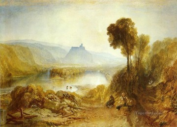 Lake Pond Waterfall Painting - Prudhoe Castle Northumberland Romantic landscape Joseph Mallord William Turner