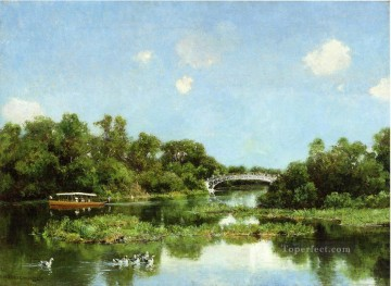 aka - South End of Wooded Island aka View of Transportation Terrace scenery Hugh Bolton Jones Landscape