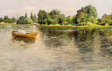 william - Summertime 1886 impressionism William Merritt Chase Landscape