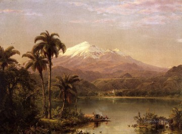 Tamaca Palms scenery Hudson River Frederic Edwin Church Landscape Oil Paintings