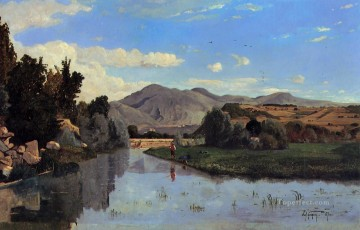 The Aiguebrun River at Lourmarin scenery Paul Camille Guigou Landscape Oil Paintings
