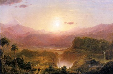 The Andes of Ecuador scenery Hudson River Frederic Edwin Church Landscape Oil Paintings