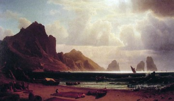 The Marina Piccola Albert Bierstadt Landscape Oil Paintings