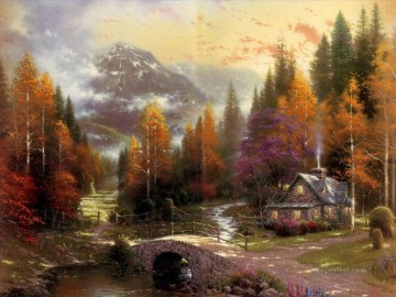 The Valley Of Peace Thomas Kinkade Landscape Oil Paintings