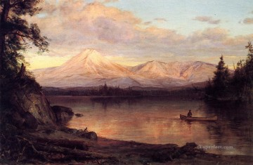 Landscapes Painting - View of Mount Katahdin scenery Hudson River Frederic Edwin Church Landscape