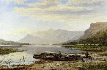 Lake Pond Waterfall Painting - Derwentwater From Ladore landscape Benjamin Williams Leader