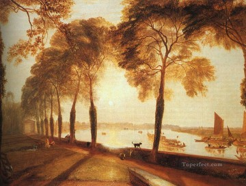 Lake Pond Waterfall Painting - Mortlake Terrace 1826 Romantic landscape Joseph Mallord William Turner