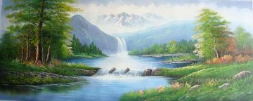 Stream in Summer Landscapes from China Oil Paintings