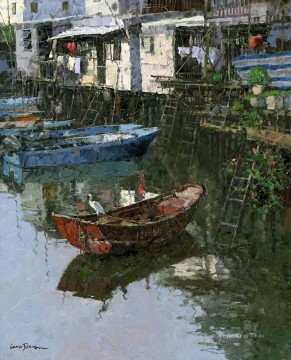 Artworks in 150 Subjects Painting - Tai O watertown China scenery