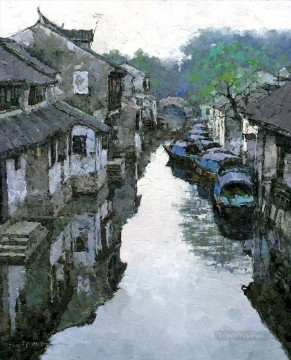 Artworks in 150 Subjects Painting - early spring in Zhouzhuang village China scenery