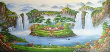 Landscapes from China Painting - Red Crowned Cranes in Fairyland Landscapes from China